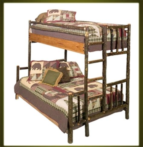 bunk bed box spring brand new rustic furniture hickory bunk bed