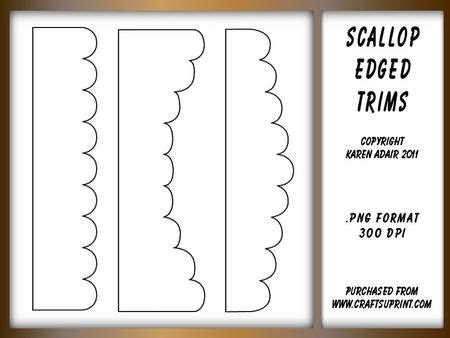 Scalloped Edge Large With Point Card Template by Scallop Edged Border Shapes Templates Templates For