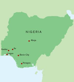 yoruba africa map learn kingdom of ife sculptures from west africa ife