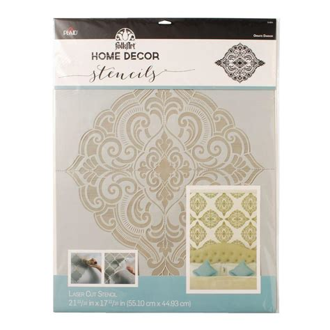 stencils for home decor folkart home decor ornate damask wall stencil 21 5 in x