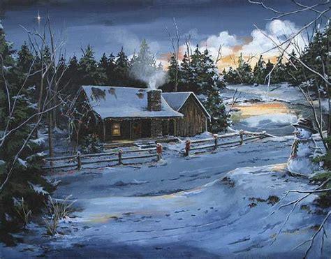 items similar  rustic cabin winter scenes archival