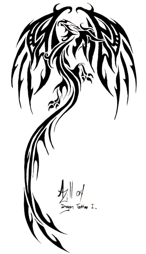 tribal dragon tattoos pictures tattoos tribal ideas photos