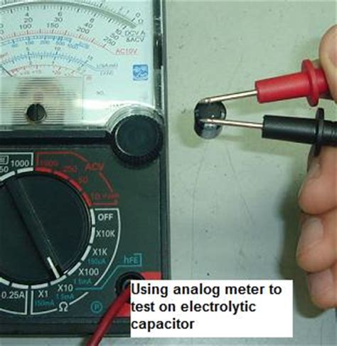 how to test a capacitor with a analog multimeter how to test a capacitor