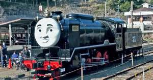 japan sized thomas tank engine steam train run summer