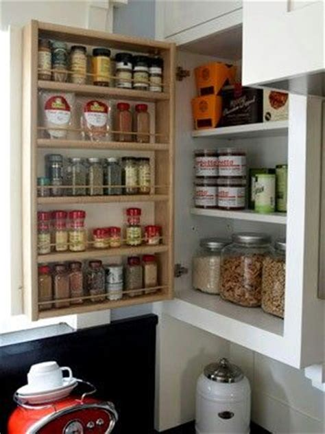 spice rack inside cabinet door