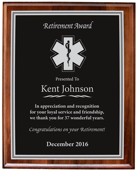 Retirement Recognition by Retirement Plaques Ultimate Service Awards