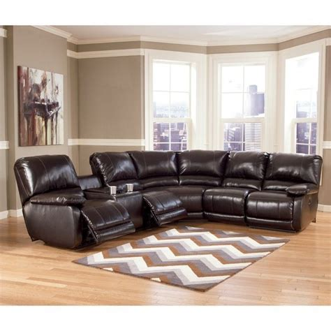 ashley furniture brown leather sectional sofas sectionals house home