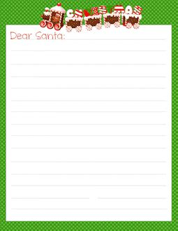 Free Printable Santa Letter Templates Letters To Santa Templates Free Printable