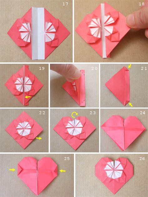 Folding Paper Hearts - moda tasar箟m tekstil origami kalp