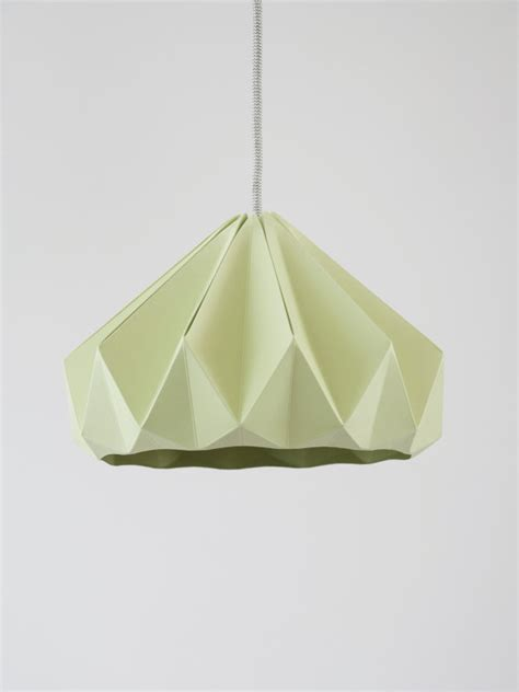 Origami Lighting - origami light chestnut autumn green