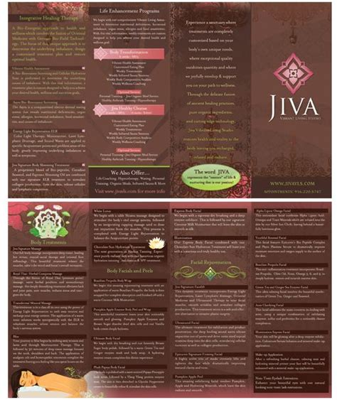 spa brochure 87 best images about spa brochures menus cards on
