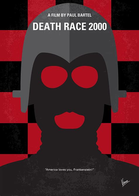 2000 to 2014 americas downward spiral race to the bottom bud no367 my death race 2000 minimal movie poster digital art