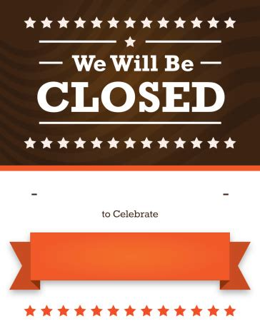 Holiday Hours Of Operation Sign Template Lifehacked1st Com Closing Signs Templates