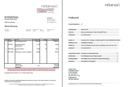 digital invoice template retarus esign