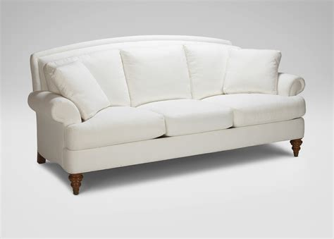 ethan allen settee hyde three cushion sofa ethan allen