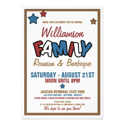Family Reunion Invitation Card Templates by Free Family Reunion Invitations Search Engine At