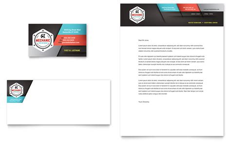 free business card letterhead template auto mechanic business card letterhead template word