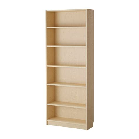 Birch Bookshelves Billy Bookcase Birch Veneer Ikea
