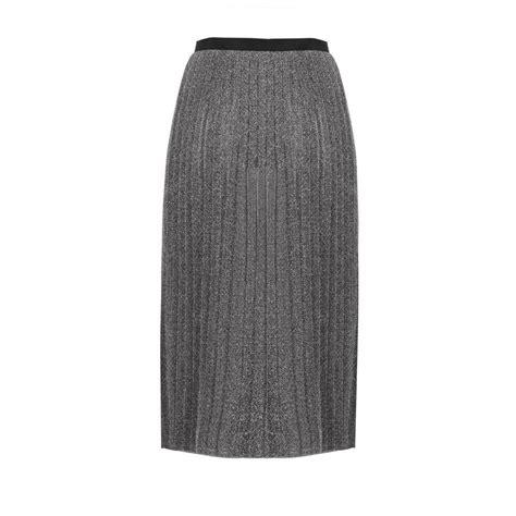 pinko carletto gonna pleated metallic skirt evachic