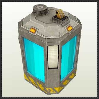 Paper Craft Square - new paper model black mesa battery free papercraft