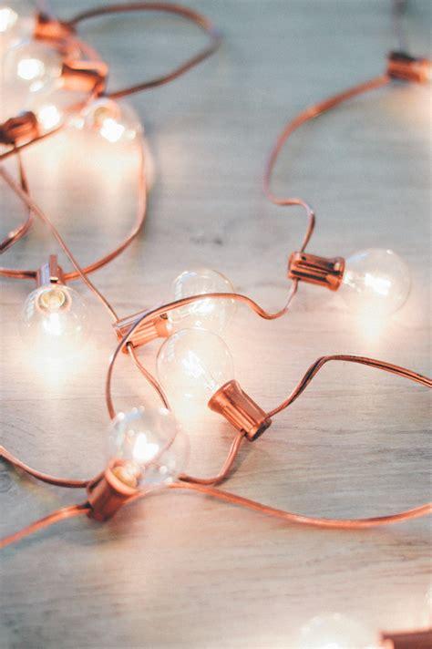 rose gold christmas lights diy rose gold holiday lights