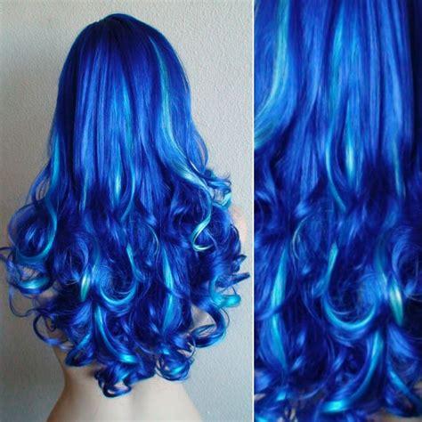 teal blue hair color ideas  black bown hair