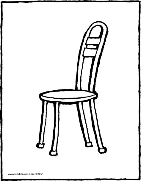 stuhl zum ausmalen m 246 bel kleurprenten kiddi kleurprentjes