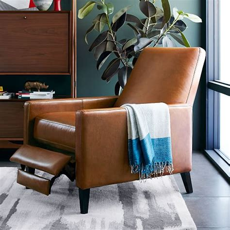 West Elm Sedgwick Recliner Review by Sedgwick Leather Recliner West Elm