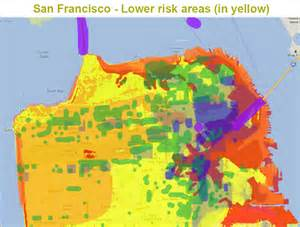 San Francisco Safety Map by San Francisco Earthquake Map Risk