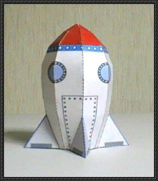 Rocket Papercraft - a simple rocket free paper