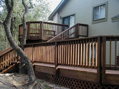 split level deck plans bi level deck plans home plans and blueprints in our