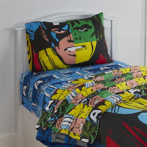 marvel avengers boys twin sheet set