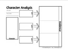 character analysis template character analysis transformation notebooking page