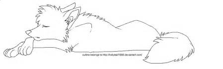 Wolf Sitting Outline by Pics For Gt Anime Wolf Outline