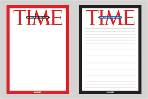 Time Magazine Person Of The Year Templates Paperzip Time Magazine Template