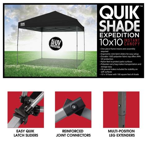 Quik Shade Instant Canopy by Quik Shade Canopy Weight Plates