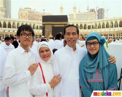 profil jokowi dan keluarga foto perjalanan religius jokowi ke tanah suci bersama
