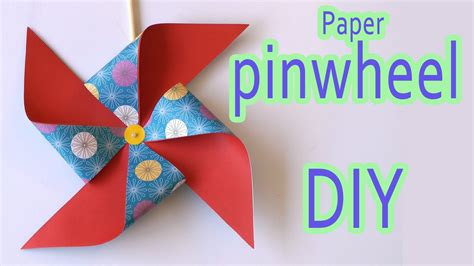 How To Make A Pinwheel With Paper - diy crafts paper pinwheel diy crafts
