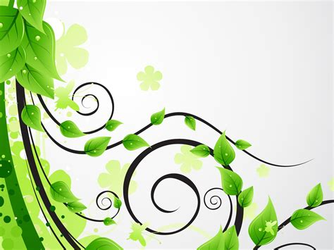 Floral In Green green floral leaves backgrounds 3d flowers nature