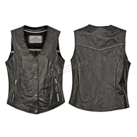 womens motorcycle clothing milwaukee motorcycle clothing co womens black darla vest