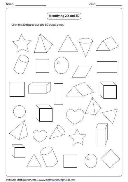 3d Shapes Worksheets by Solid 3d Shapes Worksheets