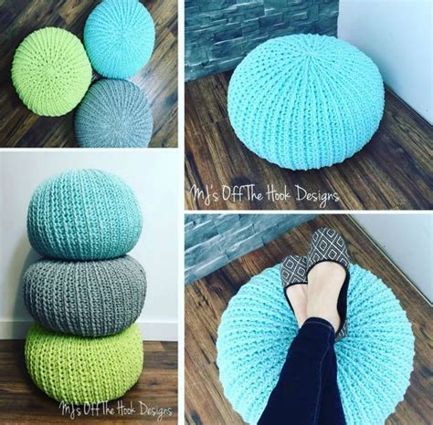 crochet ottoman pattern 17 best ideas about crochet pouf pattern on pinterest