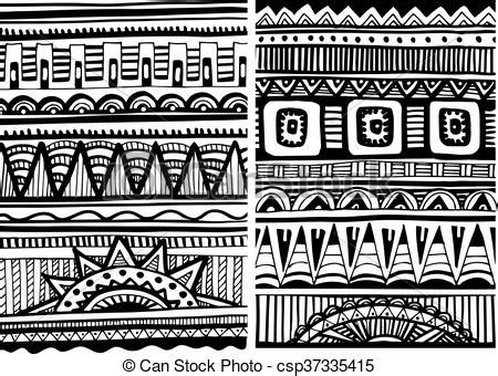 set traditional african ndebele patterns vector stock set of african patterns african tribal abstract patterns
