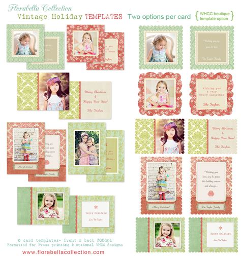 Florabella Holiday Card Photoshop Templates For Photographers 187 Florabella Collection Photoshop Card Template