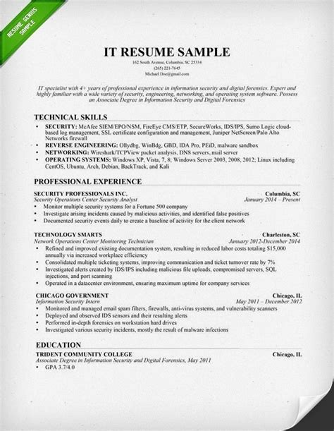 Resume For It by Computer Skills Resume Exle Template