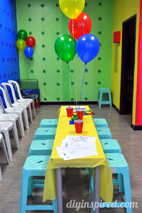 Birthday Decorations Diy by Lego Birthday Diy Inspired