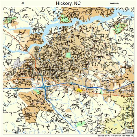 map of hickory nc hickory carolina map 3731060
