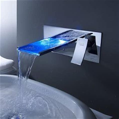 Cool Kitchen Faucet farbwechsel led wasserfall waschbecken wasserhahn
