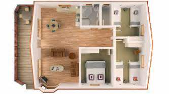 floor plan of 3 bedroom bungalow 3 bedroom family holiday accommodation units sleeps 6