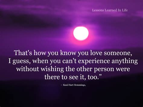 how do you know if someone is in love valley morning star lessons learned in lifeyou know you love someone when